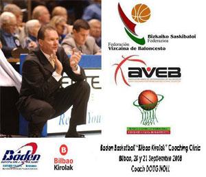 AVEB. Cartel Doug Noll. Clinic Baloncesto Septiembre 2008