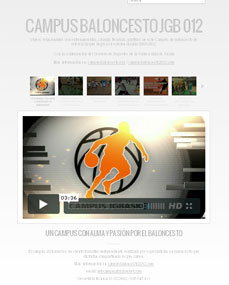 Video site informativa Campus Baloncesto JGBasket