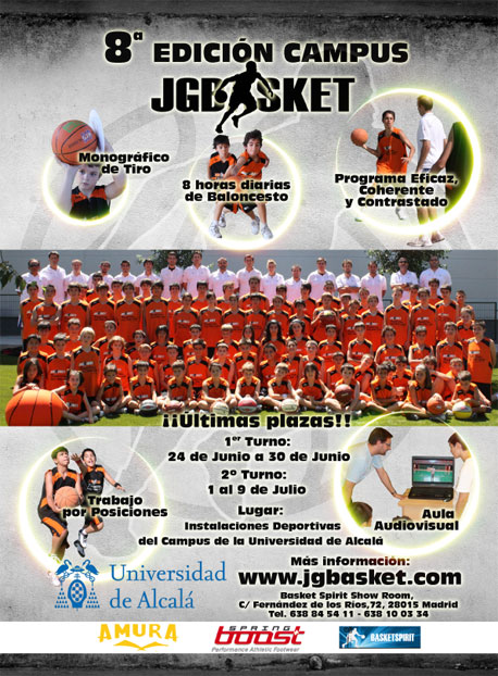 Campus Baloncesto JGBasket 2010. Ultimas plazas
