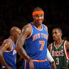 Carmelo Anthony para los New York Knicks