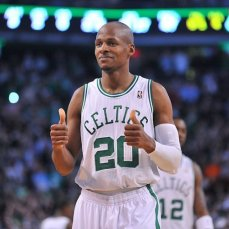 Ray Allen. Jugador Boston Celtics bate record histórico de triples de la NBA