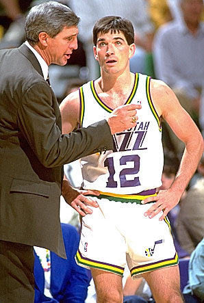 Jerry Sloan y John Stockton. Utah Jazz