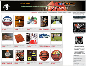Tienda baloncesto on-line e internet. Basketspirit