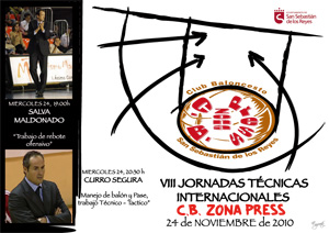VIII Clinic Club Baloncesto Zona Press. Salva Maldonado y Curro Segura. Rebote, manejo de balón y pase
